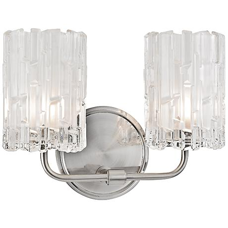 "Dexter 8 1/2""H 2-Light Satin Nickel Wall Sconce"
