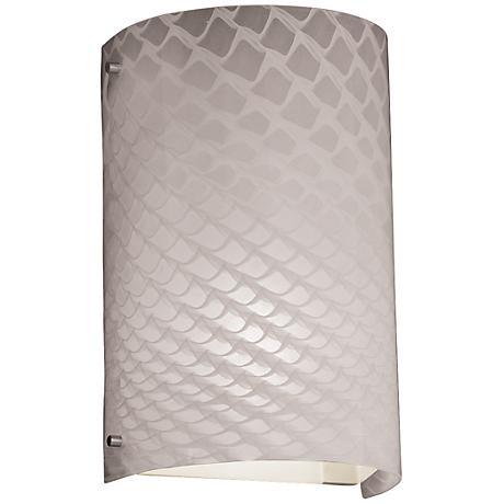 """Fusion Weaved 12 1/2""""H Brushed Nickel Outdoor Wall Light"""