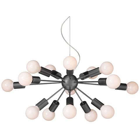 """Possini Euro Hemingson 37""""W Globe Bulb Pendant Light"""
