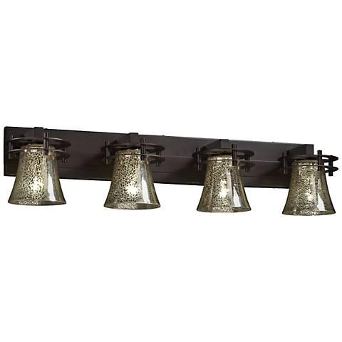 "Fusion 36 3/4"" Wide Circa 4-Light Dark Bronze Bath Light"