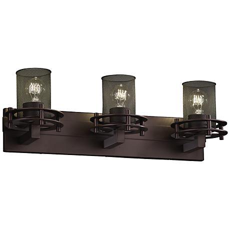 "Circa Mesh 26 1/2""W 3-Light Vintage Dark Bronze Bath Light"
