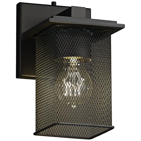 "Montana Mesh 8 3/4"" High Vintage Matte Black Wall Sconce"
