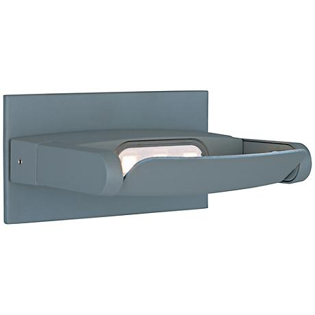 "ET2 Alumilux DC 4 1/2""H Platinum LED Outdoor Wall Light"