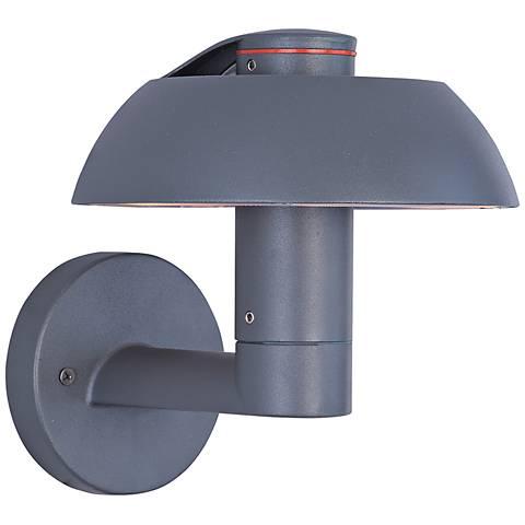 "ET2 Alumilux DC 8"" High Dark Gray LED Outdoor Wall Light"