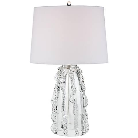 Possini Euro Deborah Clear Art Glass Table Lamp