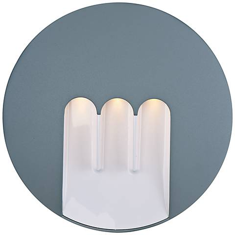 "ET2 Alumilux DC 9 1/2""H Platinum LED Outdoor Wall Light"