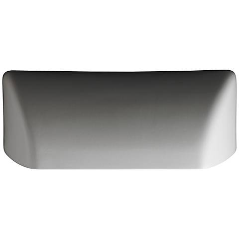 """Ambiance 12 1/4""""W Bisque Ceramic Scoop Outdoor Wall Light"""