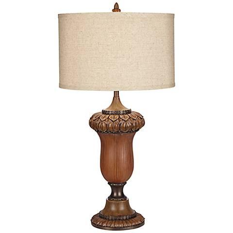Oak Ridge Antiqued Bronze Nightlight Table Lamp