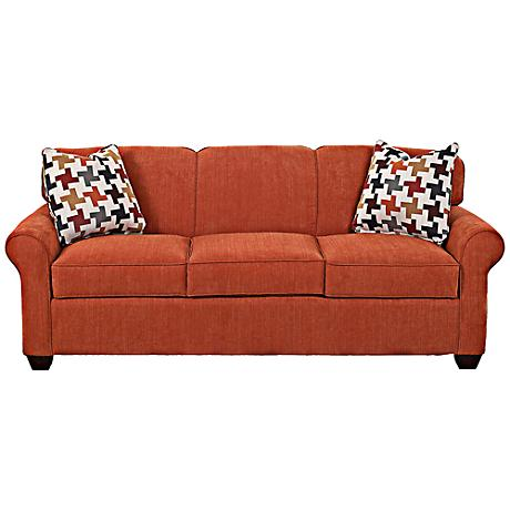 Klaussner Mayhew Spice Upholstered Queen Sleeper Sofa