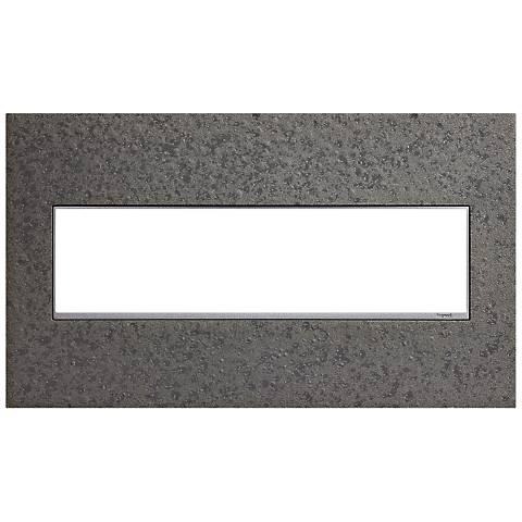 Hubbardton Forge Natural Iron 4-Gang Wall Plate