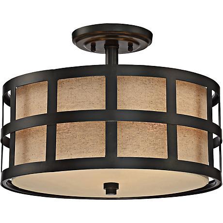 "Quoizel Marisol 16"" Wide Teco Marrone Ceiling Light"