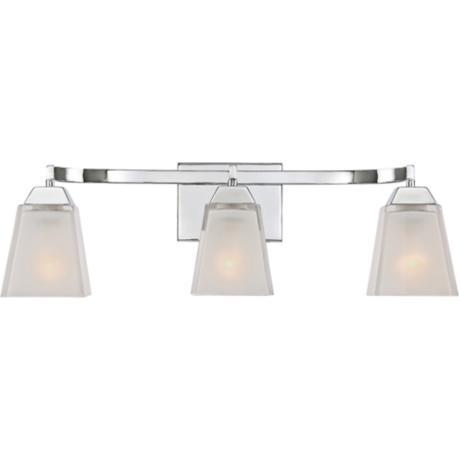 loft 24 wide polished chrome bathroom lighting 8r671 lamps plus. Black Bedroom Furniture Sets. Home Design Ideas
