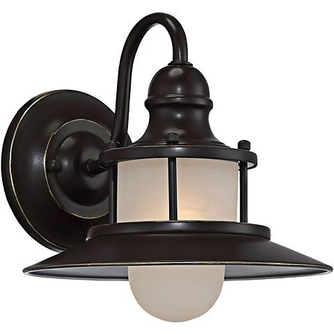 "Quoizel New England 9 1/2"" High Bronze Outdoor Wall Light"