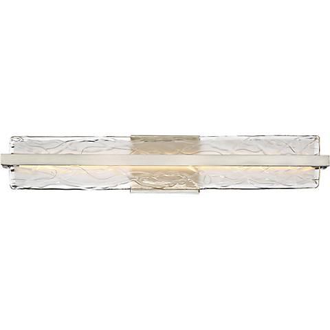 "Platinum Glacial 30"" Wide Nickel LED Bathroom Lighting"