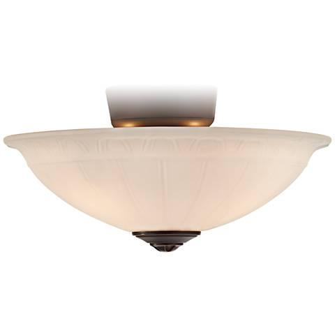 Oil Rubbed Bronze White Flute Ceiling Fan Light Kit