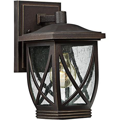 "Tudor 10 1/2"" High Palladian Bronze Outdoor Wall Light"
