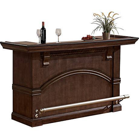 Santiago Pewter Birch Veneer Brushed Steel Bar Cabinet
