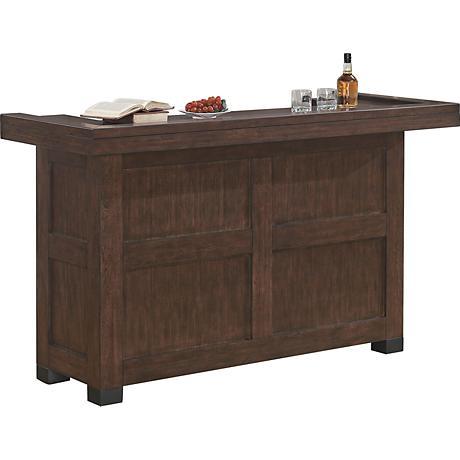 Verano Old World Sable Wood Transitional Bar Cabinet