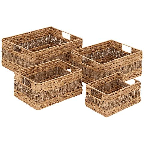 Madlyn 4-Piece Seagrass Basket Set