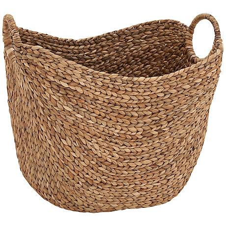 Marne Natural Meandering-Weave Textured Seagrass Basket