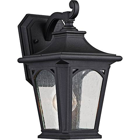 "Bedford 12 3/4"" High Mystic Black Outdoor Wall Light"