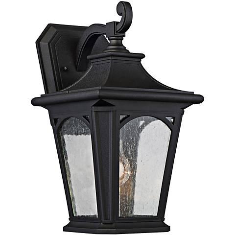 "Bedford 15 1/2"" High Mystic Black Outdoor Wall Light"