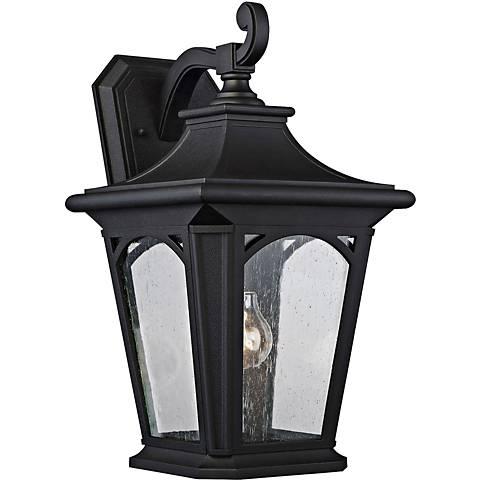 "Bedford 18 1/4"" High Mystic Black Outdoor Wall Light"