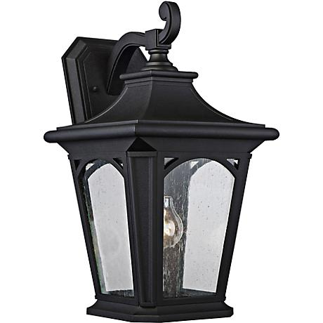 "Bedford 18 1/4"" High Mystic Black Outdoor Wall Light"
