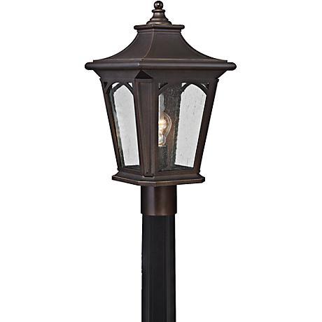"Bedford 19"" High Palladian Bronze Outdoor Post Light"