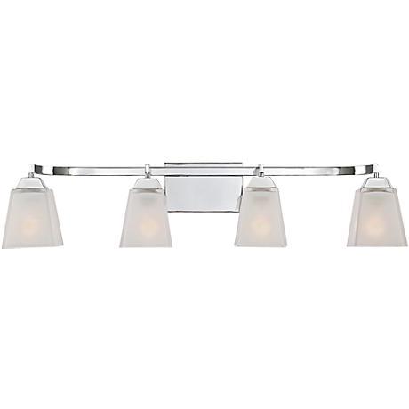 "Quoizel Loft 34"" Wide Polished Chrome Bathroom Lighting"