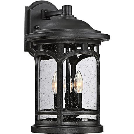 "Marblehead 17 1/2"" High Mystic Black Outdoor Wall Light"