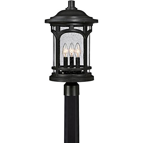 "Marblehead 19 1/2"" High Mystic Black Outdoor Post Light"