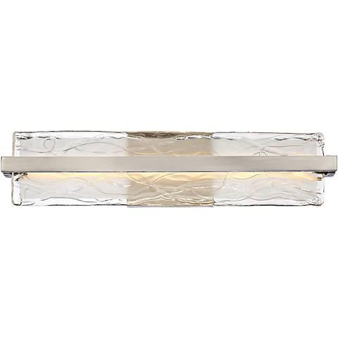 "Platinum Glacial 22"" Wide Nickel LED Bathroom Lighting"