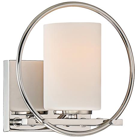 "Parallel 8 1/4"" Wide Polished Nickel Bathroom Lighting"