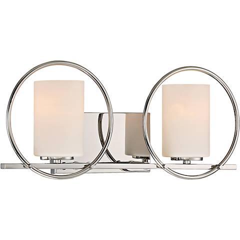 "Quoizel Parallel 19"" Wide Polished Nickel Bathroom Lighting"