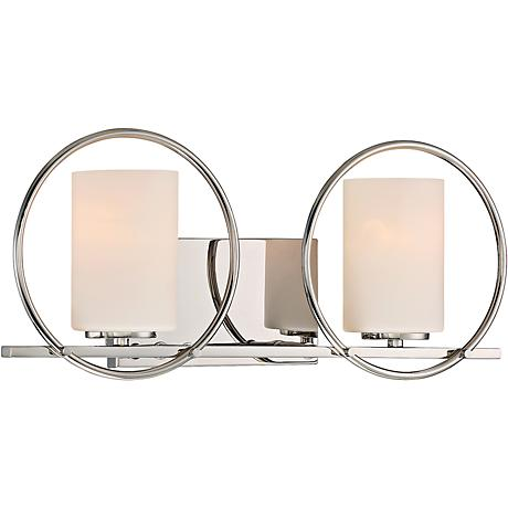 "Quoizel Parallel 19"" Wide Polished Nickel Bathroom Lighting"