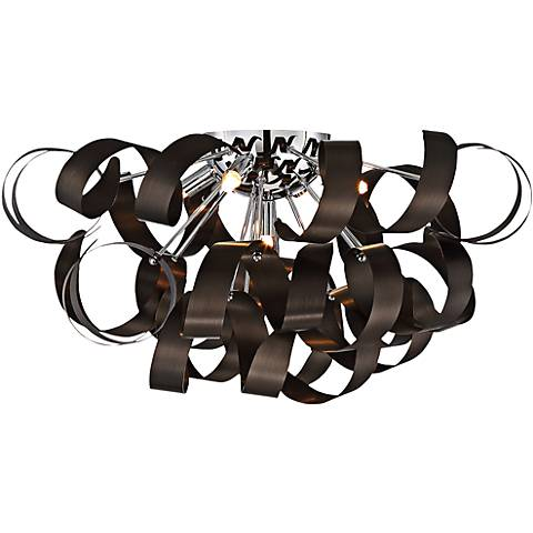 "Quoizel Ribbons 22"" Wide Western Bronze Ceiling Light"