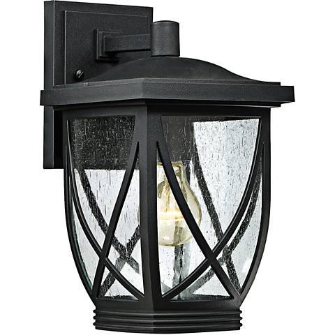 "Quoizel Tudor 12 1/2"" High Mystic Black Outdoor Wall Light"