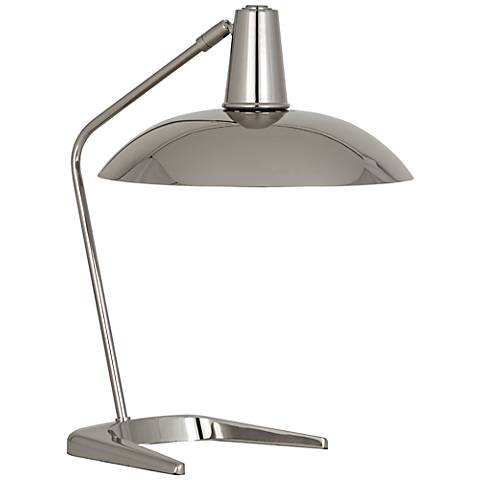 Robert Abbey Enterprise Polished Nickel Desk Lamp