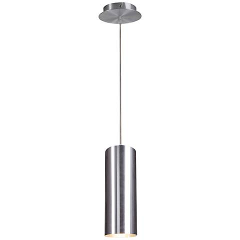 "Enola 4"" Wide Brushed Aluminum Mini Pendant"