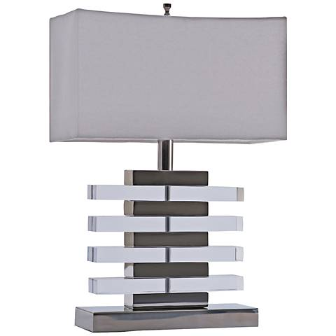 "Claro 20""H Polished Nickel Acrylic Accent Table Lamp"