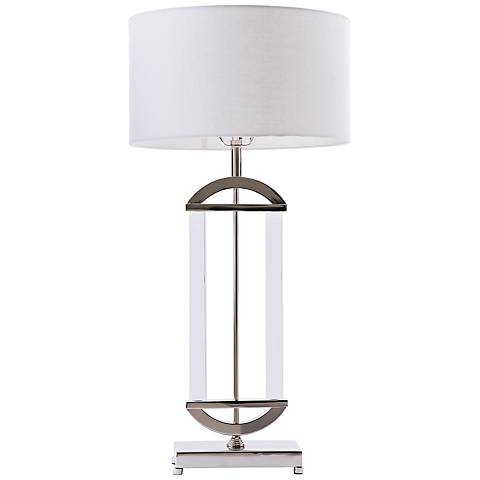 Concord Polished Nickel and Acrylic Table Lamp