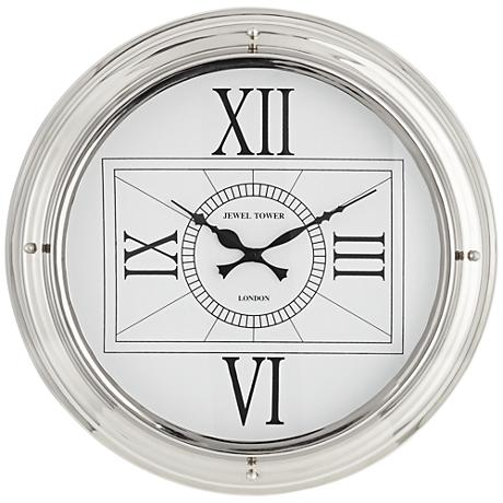 """Carnaby 18"""" Round Stainless Steel Wall Clock"""