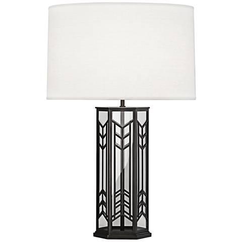 Robert Abbey Octavius Deep Patina Bronze Steel Table Lamp