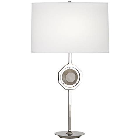Robert Abbey Hope Polished Nickel Rock Crystal Table Lamp