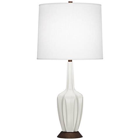 Robert Abbey Cecilia Small Matte Lily Ceramic Table Lamp