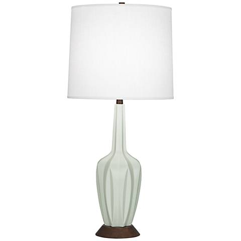 Robert Abbey Cecilia Tall Matte Celadon Table Lamp