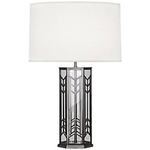 Robert Abbey Octavius Blackened Nickel Steel Table Lamp