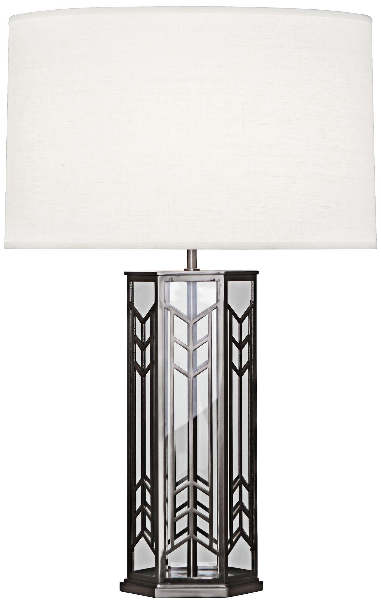 robert abbey octavius blackened nickel steel table lamp - Robert Abbey