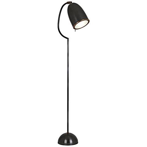 Robert Abbey Director Patina Bronze Studio Floor Lamp